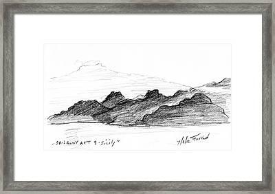 Sail Away Aft 9 Sicily Framed Print by Valerie Freeman
