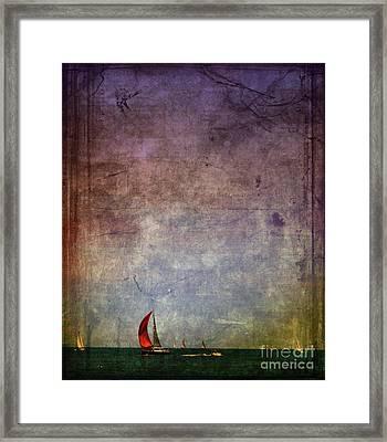 Sail Away Framed Print by Elora Daphne