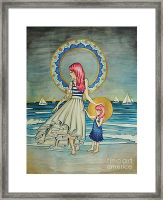 Sail Away Framed Print by Lucy Stephens