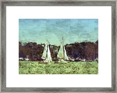 Sail Away Framed Print by Susan Leggett