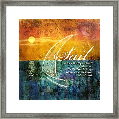 Sail Framed Print by Evie Cook
