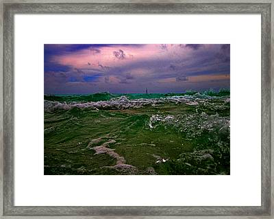 Sail In The Ocean. Maldives Texture. Art On Maldives. Framed Print by Andy Za