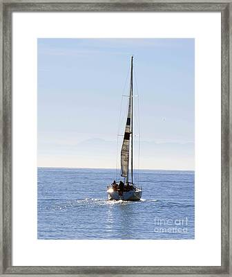 Sail Into The Future Framed Print by Artist and Photographer Laura Wrede