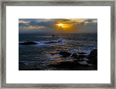Sail Rock Sunrise Framed Print by Marty Saccone