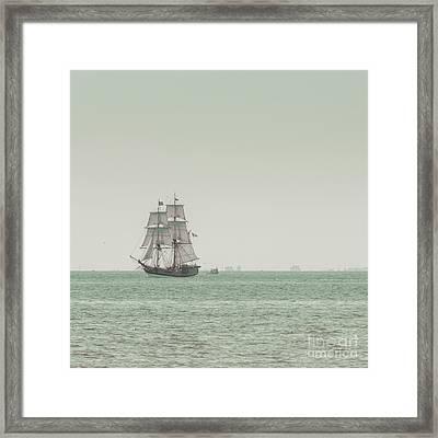 Sail Ship 1 Framed Print by Lucid Mood
