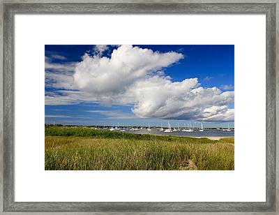 Sailboat Days Framed Print by Amazing Jules