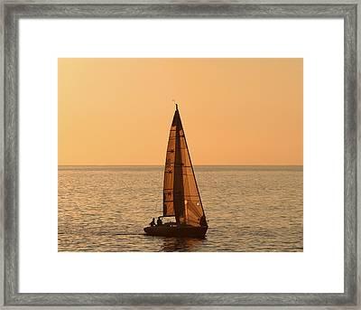 Sailboat In Hawaii Framed Print by Kim Hojnacki