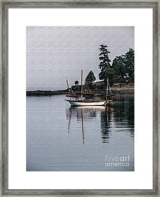 Sailboat In Watercolor Framed Print by Robert Bales