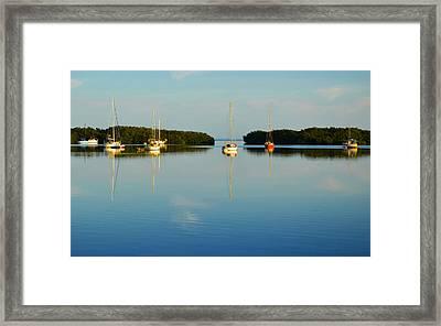 Sailboat Lagoon Framed Print by Kent Roberts