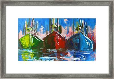 Sailboat Framed Print by Patricia Awapara