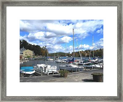 Sailboats On Sunapee Framed Print by Will Boutin Photos