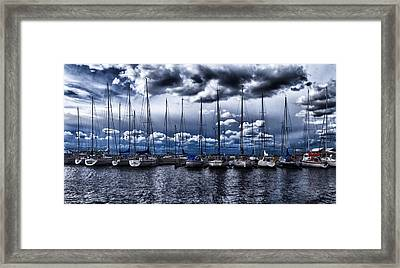 Sailboats Framed Print by Stelios Kleanthous