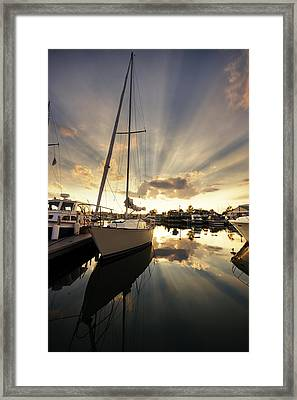 Sailed In Framed Print by Alexey Stiop