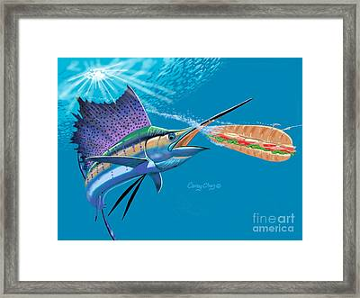 Sailfish Sub Framed Print by Carey Chen