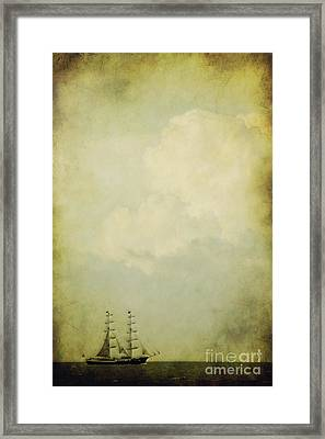Sailing Framed Print by Angela Doelling AD DESIGN Photo and PhotoArt