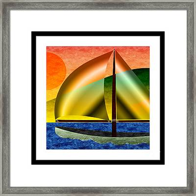 Sailing Around Hawaii Square Framed Print by Andee Design
