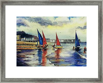 Sailing At Penarth Framed Print by Andrew Read