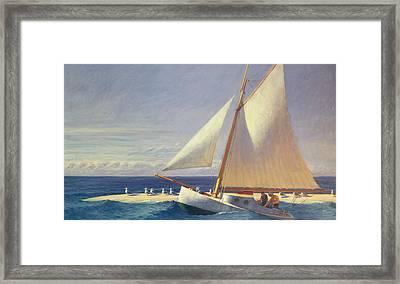 Sailing Boat Framed Print by Edward Hopper