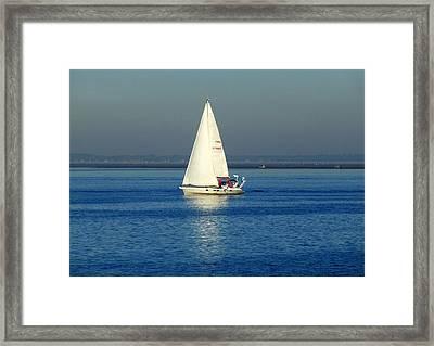 Sailing By Framed Print by Bishopston Fine Art