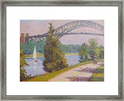 Sailing Cape Cod Canal Framed Print by Dianne Panarelli Miller