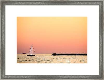 Sailing In Color Framed Print by Gary Heller