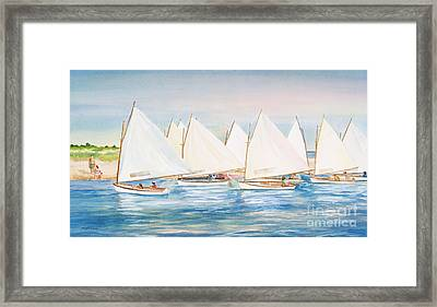 Sailing In The Summertime II Framed Print by Michelle Wiarda
