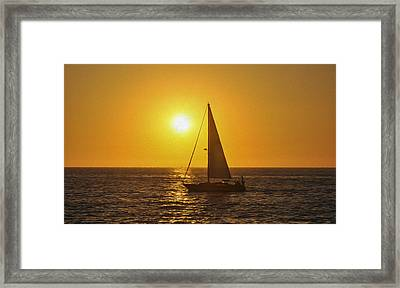 Sailing Into The Sunset Framed Print by Aged Pixel