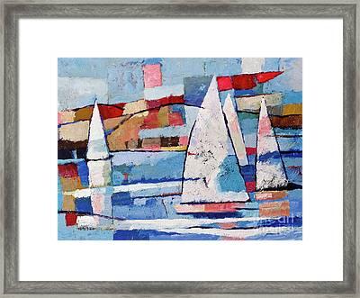Sailing Joy Framed Print by Lutz Baar