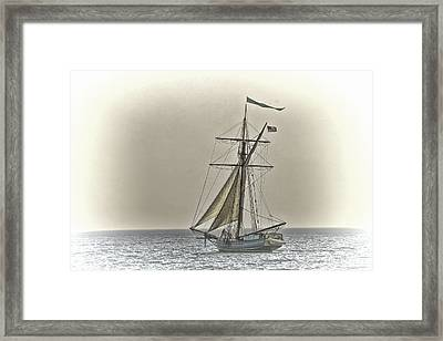 Sailing Off Framed Print by Jack R Perry