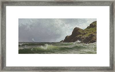 Sailing Off The Coast Framed Print by Alfred Thompson Bricher