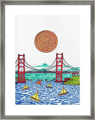 Sailing On San Francisco Bay Framed Print by Michael Friend