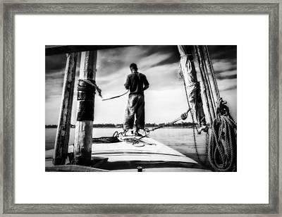 Sailing On The Nile Framed Print by Erik Brede