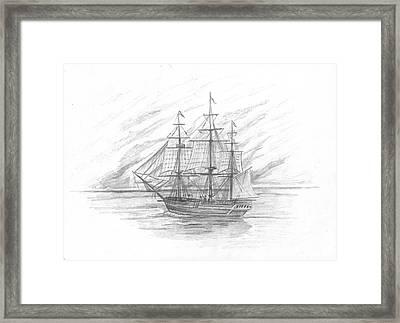 Sailing Ship Enterprise Framed Print by Michael Penny