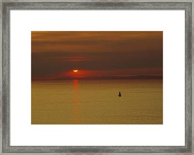 Sailing Ship Sea Framed Print by Panoramic Images