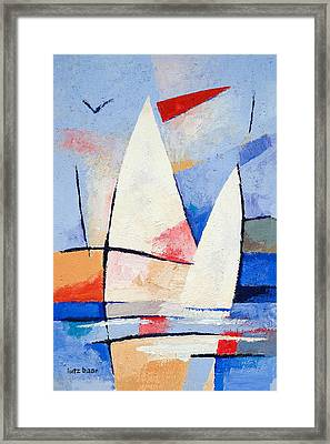 Sailing Signs Framed Print by Lutz Baar