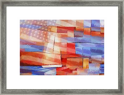 Sailing Stripes Framed Print by Lutz Baar