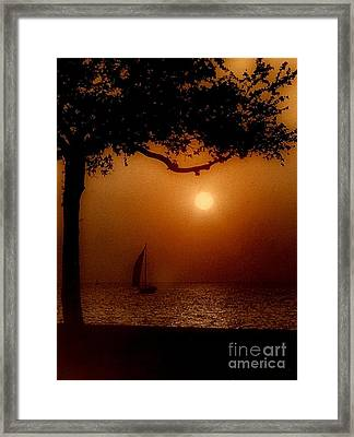 Sailing Sunset Framed Print by Michael Hoard