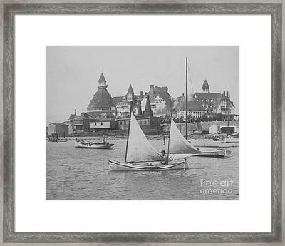 Sailing The Del Bw Framed Print by Glenn McNary