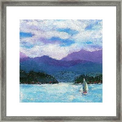 Sailing The Lake Framed Print by David Patterson