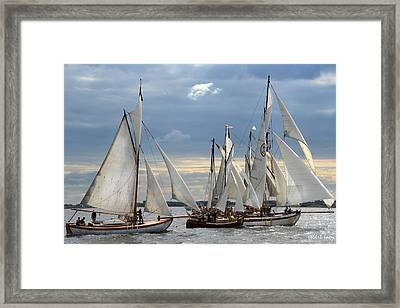 Sailing The Limfjord Framed Print by Robert Lacy