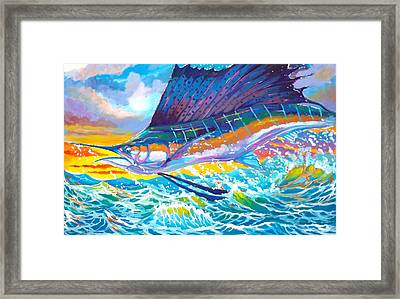 Sailing The Sunset  Framed Print by Yusniel Santos