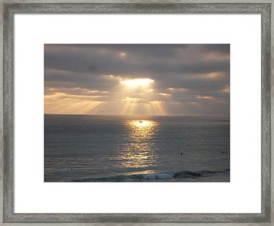 Sailing Under The Sun Framed Print by Patricia Lyons