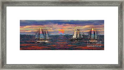 Sailing While Dreaming Framed Print by Jeff Breiman