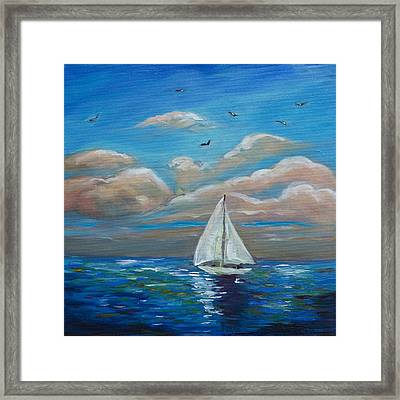 Sailing With My Dad Framed Print by Linda Olsen