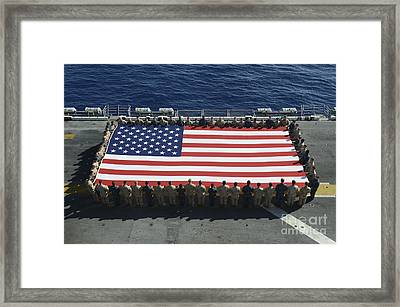 Sailors And Marines Display Framed Print by Stocktrek Images