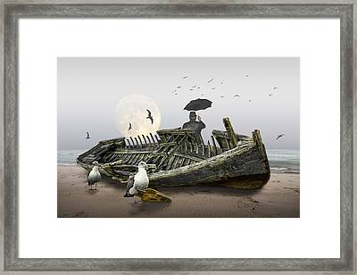 Sailor's Dream Or Nightmare Framed Print by Randall Nyhof