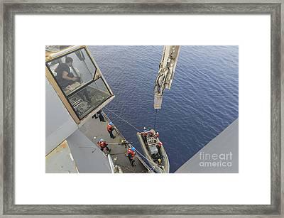 Sailors Return To Their Ship Framed Print by Stocktrek Images