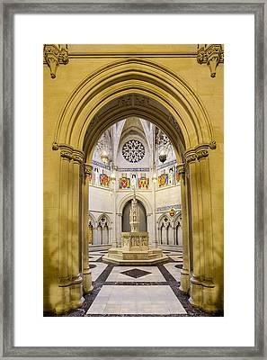Saint John The Divine Baptistry Framed Print by Susan Candelario