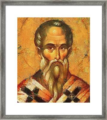 Saint Alexander Of Konstantinopol Icon Framed Print by Yury Malkov