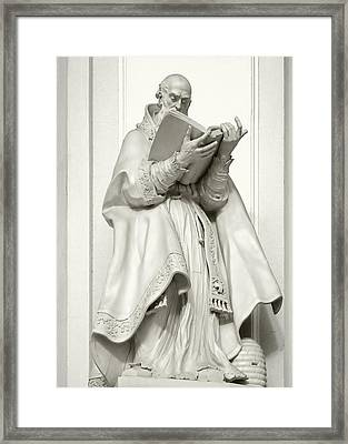 Saint Ambrose - Holy Trinity Cathedral Dresden Framed Print by Christine Till